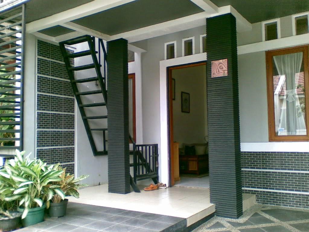 percantik teras rumah dengan batu alam model rumah
