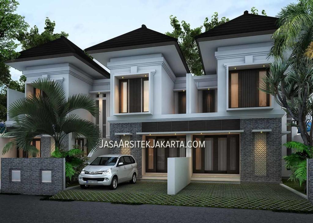 desain perumahan 2 lantai luas 70m2 di jakarta model