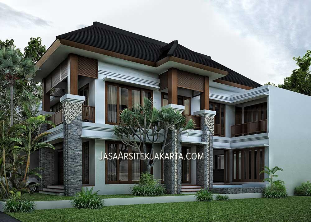 desain rumah luas 450 m2 milik bu devi di batam model