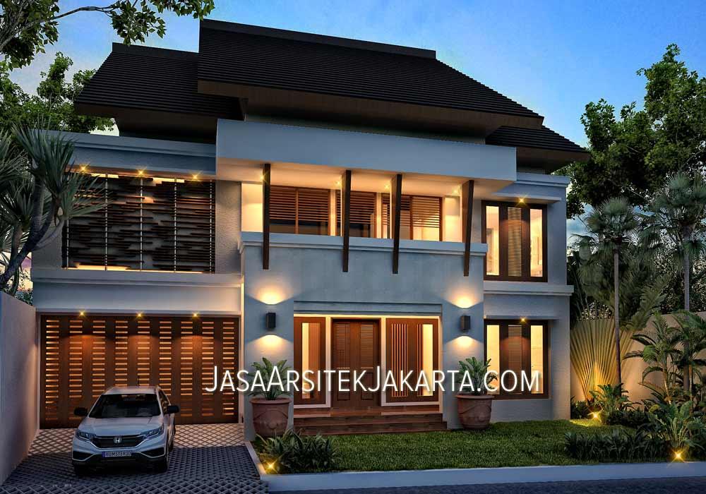 Desain Rumah luas 320 m2 Bapak Hadar Jakarta