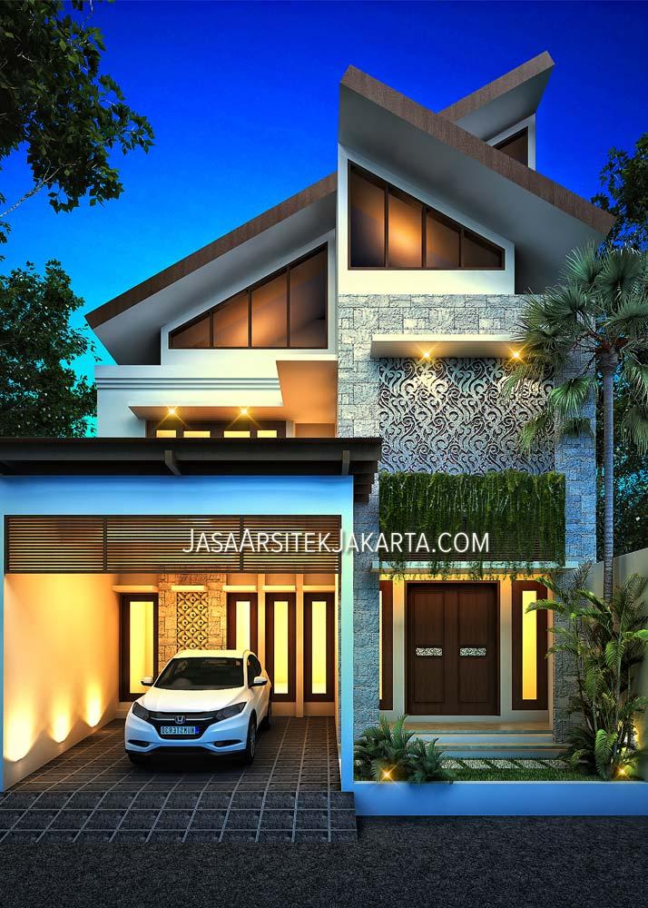Desain Rumah luas 137 m2 Ibu Niken Jakarta