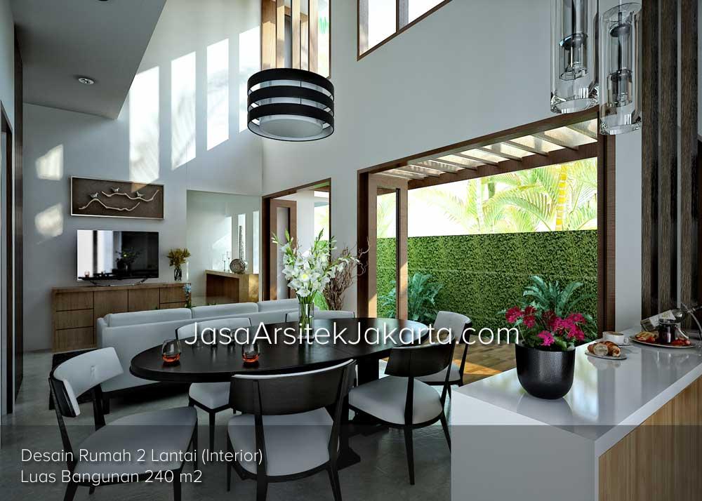 Desain Rumah 2 Lantai luas bangunan 240 m2