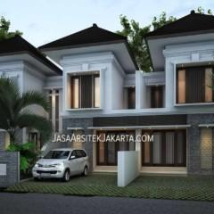 Desain Perumahan 2 lantai luas 70m2 di Jakarta