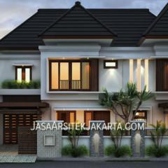 Desain Rumah 5 kamar Luas 330 m2 Bp Havid di Malang