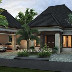Desain Rumah 4 kamar Luas 330 m2 Bp Nurdin
