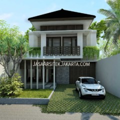 Desain Rumah 280 m2 bu Yuli Jakarta