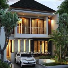 Desain Rumah 3 kamar Luas 150 m2 Bp Riki Jakarta